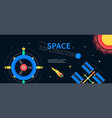 space exploration - colorful flat design style web vector image