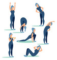 step step workout sport in minimalist style vector image