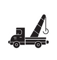 towing truck black concept icon towing vector image vector image