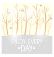 trees winter vector image
