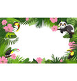 tropical animal rainforest concept banner cartoon vector image vector image