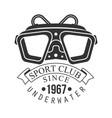 underwater sport club since 1967 vintage logo vector image vector image