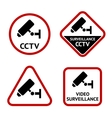 Video surveillance sticky labels vector image vector image