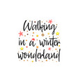 walking in a winter wonderland holiday banner vector image vector image