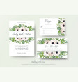 wedding invite invitation save the date rsvp vector image vector image