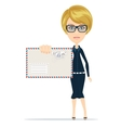 woman holding envelope letter in her hand vector image vector image