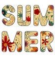 word summer painted retro vector image vector image