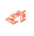 mobile app development flat 3d isometric style vector image