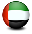 A ball with the flag of the United Arab Emirates vector image vector image