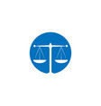 attorney at law logo icon template vector image