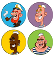 avatars sailors vector image