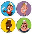 avatars sailors vector image vector image