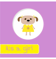 Baby shower card with dog Its a girl vector image vector image