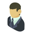 banker asian icon isometric 3d style vector image vector image