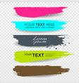 banners brush stroke tag label colorful vector image vector image