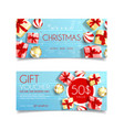 beautiful gift voucher for christmas vector image