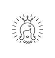 beauty salon icon queen logo hairdressing vector image vector image