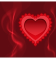 blazing heart fire and love vector image vector image
