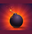 bomb with sparks vector image vector image