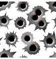 bullet hole track trace sign gunshot crack torn vector image