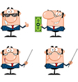 Business Man Characters Collection vector image vector image