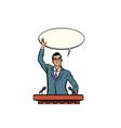 businessman or politician speaker speaking vector image