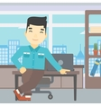 Businessman standing in the office vector image vector image