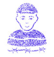 camp prisoner icon grunge watermark vector image