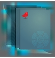 Card border with snowflake bird vector image vector image