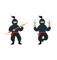 Cartoon Ninja Set vector image