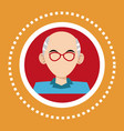 character old man glasses social media vector image