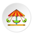 Childrens carousel icon cartoon style vector image vector image