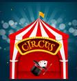 circus tent poster retro sign invitation vector image
