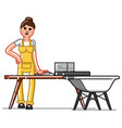 cleaning service woman vector image vector image
