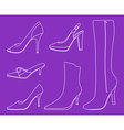 collection of women shoes vector image vector image