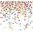 Colorful confetti on the white background vector image vector image