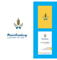 crops in hands creative logo and business card vector image