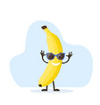 cute and funny banana character vector image vector image