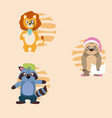 cute animals cartoons vector image vector image