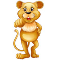 Cute lion standing alone vector image vector image
