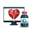 digital healthcare cardiology and medicine vector image