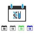 dna analysis calendar day flat icon vector image vector image