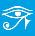 eye of horus egypt deity icon white vector image vector image