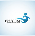 freedom logo template vector image vector image