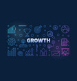 growth colored thin line vector image vector image