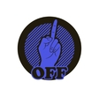 Hand with middle finger icon vector image vector image