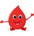 happy blood cartoon running vector image