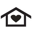 home heart icon vector image vector image