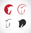 images of horse design vector image