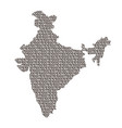 india map abstract schematic from black ones and vector image vector image